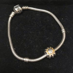 Pandora Jewelry - Pandora bracelet small with charm